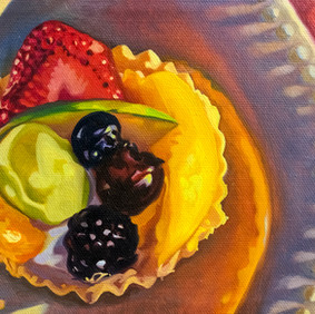"""FRUIT TART   oil on canvas 6 x 8"""" 2011"""