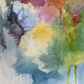 "APRIL #3  watercolor on 140 lb cold press paper 11 x 15"" 2020"