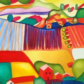 """LE SANDWICH AU JAMBON  oil on wood panel  10 x 11""""  2007"""