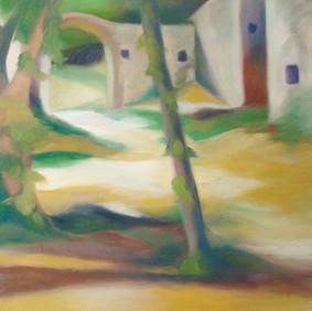 """LA CREME BRULEE   oil on wood panel  13 x 13""""  2007"""
