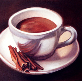 """HOT CHOCOLATE   oil on canvas 7.5 x 9"""" 2008"""