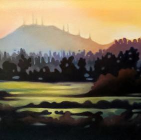 "REDLANDS  oil on canvas 12 x 16""  2009"