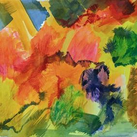 "APRIL #2  watercolor on 140 lb cold press paper  10 x 14"" 2020"