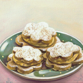 "LEMON CURD COOKIES   oil on canvas 7.5 x 9"" 2008"