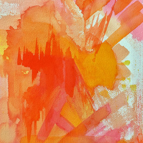 """PORTO'S SPRING   watercolor on 140 lb cold press paper  10 x 14""""  2020"""
