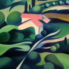 """LE GATEAU  oil on wood panel  9 x 11""""  2007"""