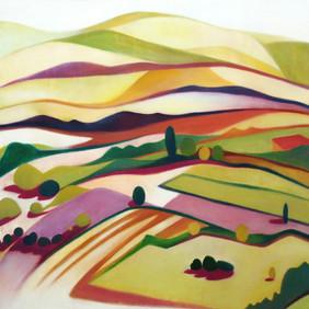 """LE BOUILLABAISSE  oil on wood panel  24 x 24""""  2007"""
