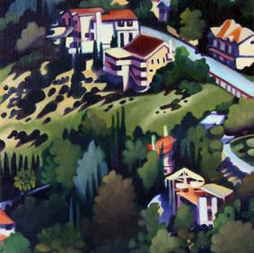 "WOODLAND HILLS  oil on canvas 8 x 10""  2009"