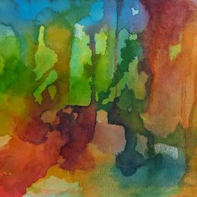 "APRIL #1  watercolor on 140 lb cold press paper 9 x 12"" 2020"