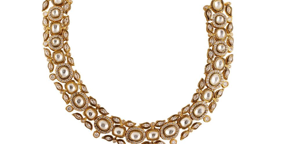 Golden Fusion Kundan Necklace Set