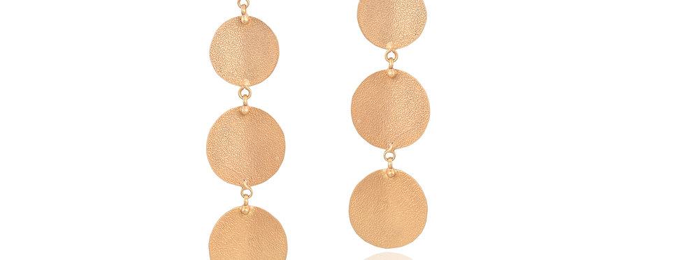 Slim Golden Dangler Earrings