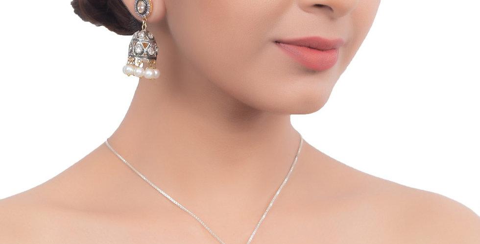 Silver White stones Pendant