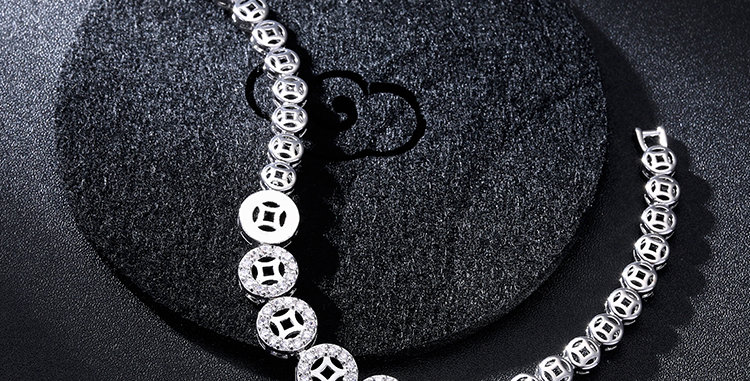 Sterling Silver Moonlight Sparkle lustrous Bracelet