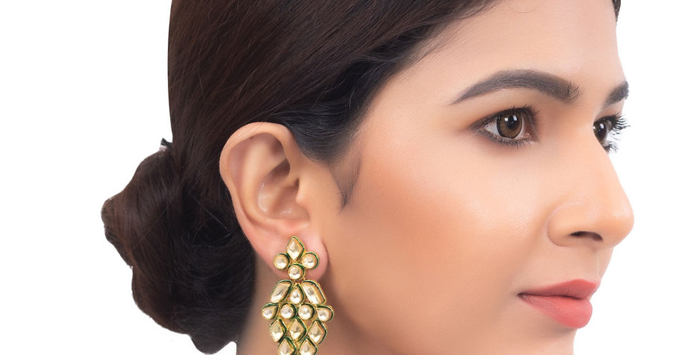 Polki Chandelier Long Earrings