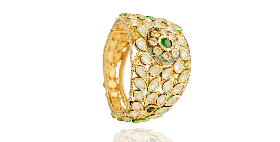 Golden Kundan wrist Cuff