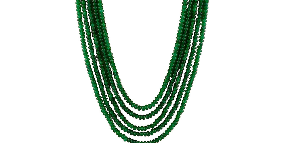 Green Strings kundan Necklace