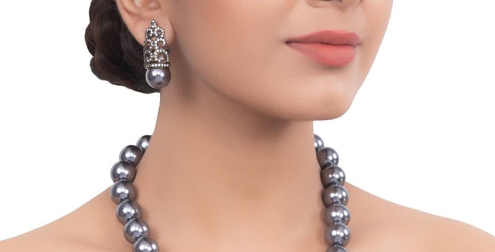 Impeccable Ocean-Blue Bead String Necklace set