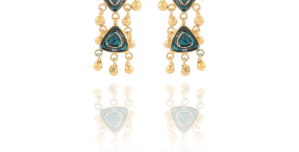 Blue Stones-duo drop earrings