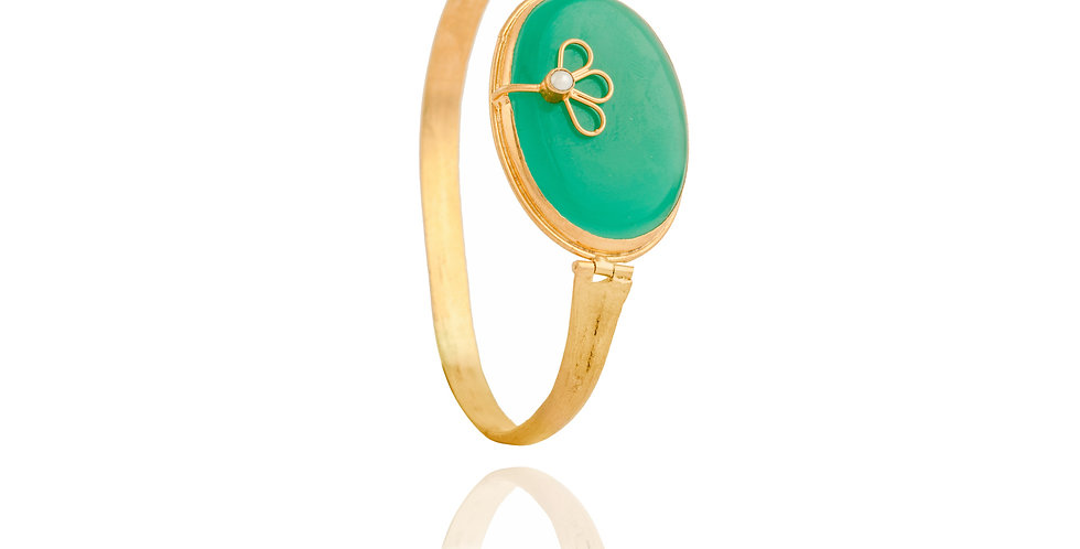 Green and Golden Delicate Cuff