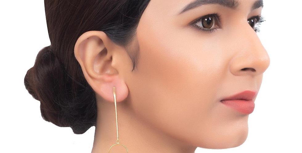 Dainty Coral Stones Long Earrings