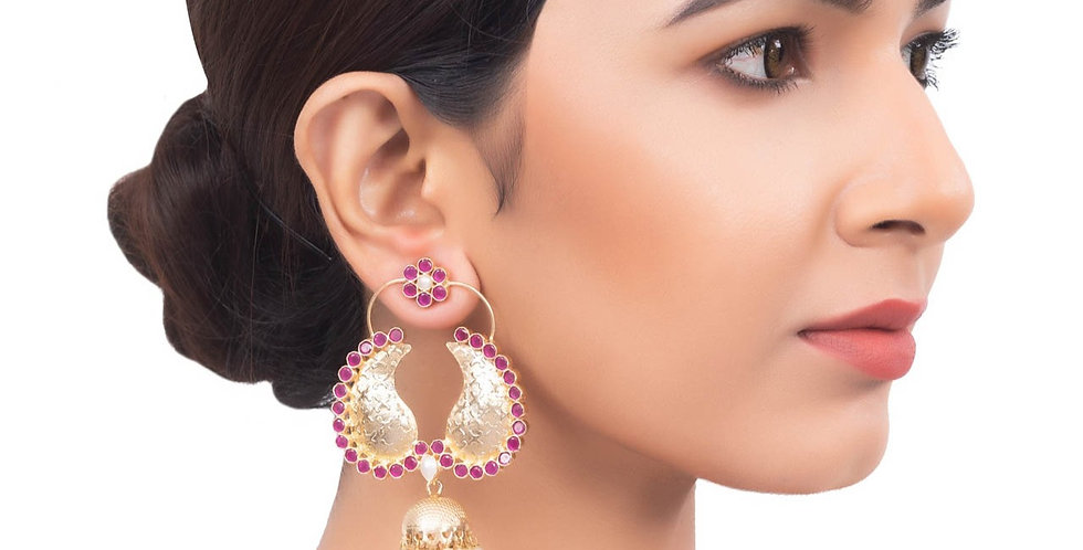 Golden Minimalist Drop Jhumkis