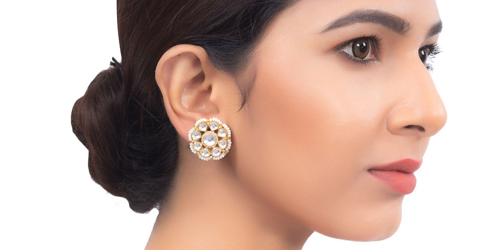 Bloomingdale Wallflower Crystal Stud Earrings