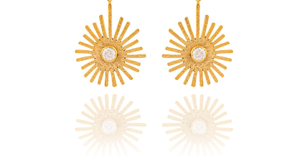 Golden Sun Spiked Medium Earrings