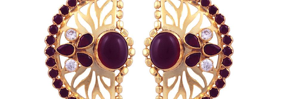 Semi-Circle Crown Stud Earrings