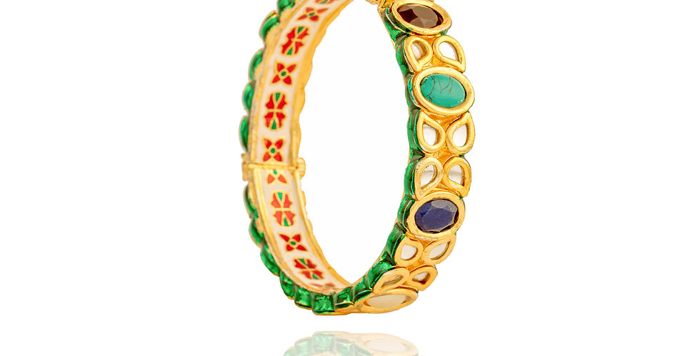 Navratan Kundan Bangle Pair
