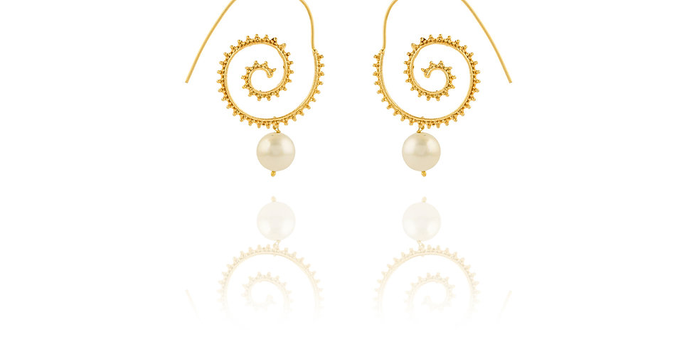 Ring-a-round Pearl Drop Top Earrings