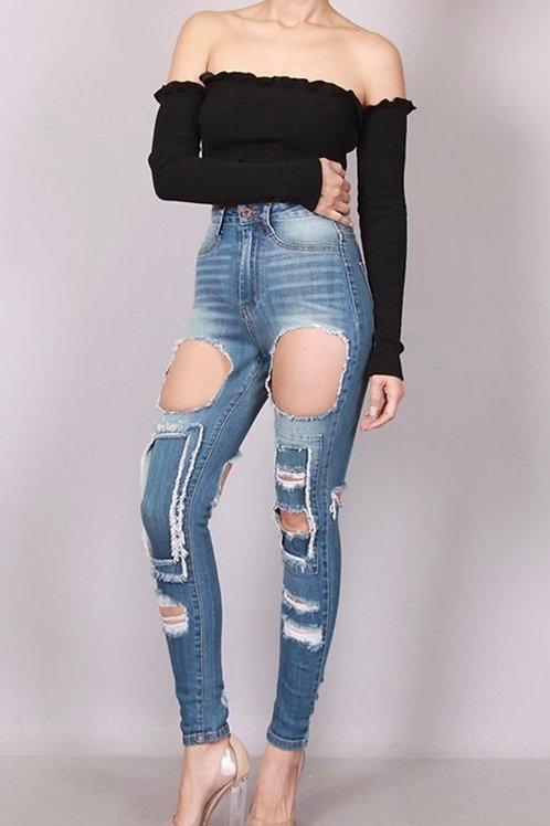 Women's Hi-Waist Jeans