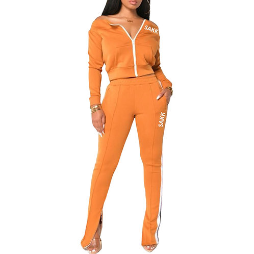 Megan Two Piece Set Orange