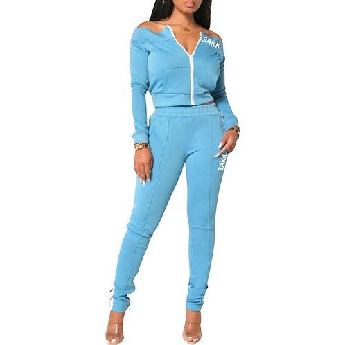 Megan Two Piece Set Blue