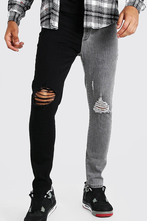 Pick A Side Jeans Grey Scale