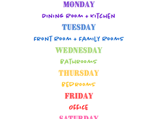 My Weekly & Spring Cleaning Checklists