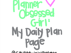 Planner Obsessed Girl: My Daily Planning Page