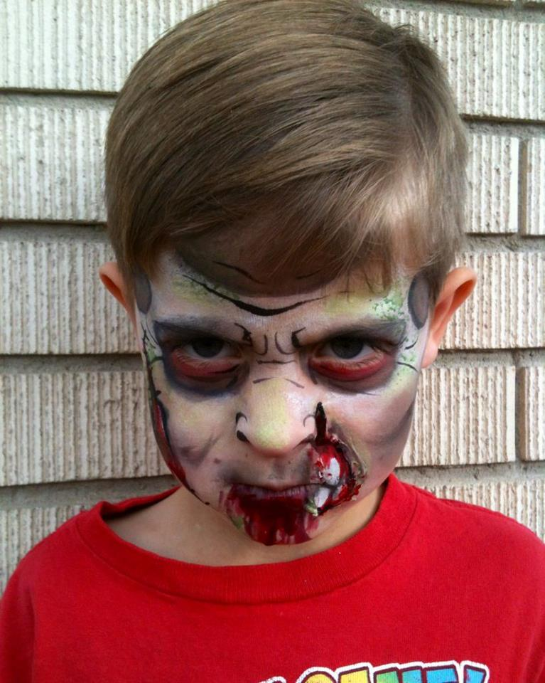 Zombie Monster Halloween Makeup