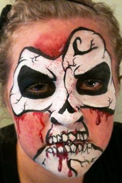Bloody Skeleton Halloween Makeup