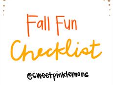 Fall Fun Checklist