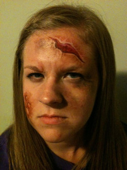 Halloween Makeup cuts and wounds