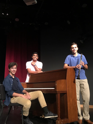 Crescendo for a Cause Co-Founders present at the 2020 Tri-M Music Honor Society Benefit Concert