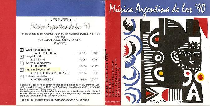 CD. Música argentina. Natalia Solomonoff