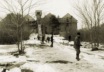 Ice Harvesting at the Drivers Union Ice Company on Chebacco Lake (circa 1900), Essex, Massachusetts