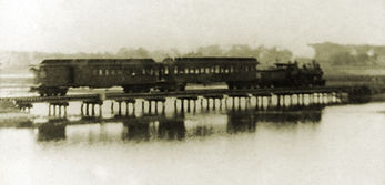 Train Trestle Across the Marsh, Essex, Massachusetts