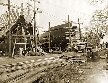 Arthur D. Story Shipyard in 1946, Essex, Massachusetts