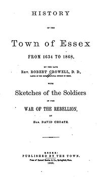 History of the Town of Essex, Massachusetts
