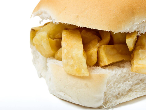 """Woody's launch their """"Large Chip Butty"""" JUST! £2.60 served with a side of your choice."""