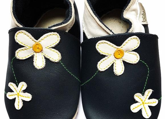 Navy daisy soft soles