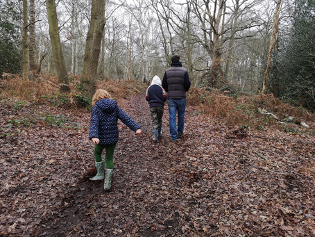 Escape your four walls and enjoy a walk with the kids