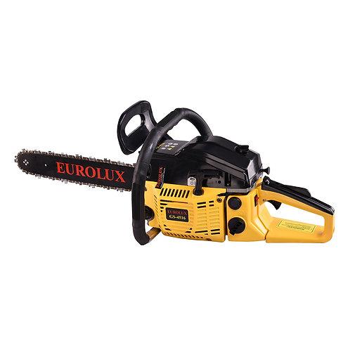 Бензопила Eurolux GS-4516, Мощность 3,13 л.с., Объем 45см3, Шина 400мм, Вес 5кг